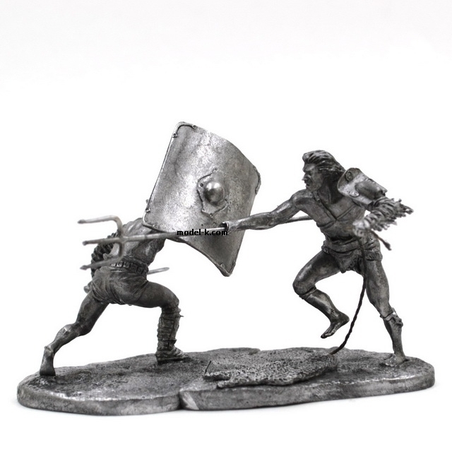 1:32 Scale Metal Figure of  Roman Gladiators