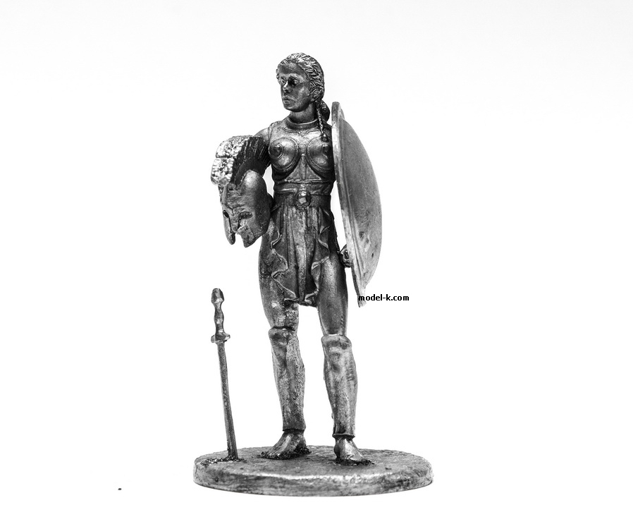 54mm Miniature of Amazon warrior 1:32 Scale