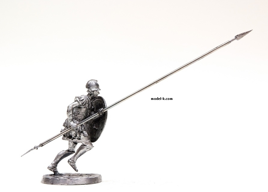 1:32 Scale Metal Miniature of  Macedonian infantryman 54mm