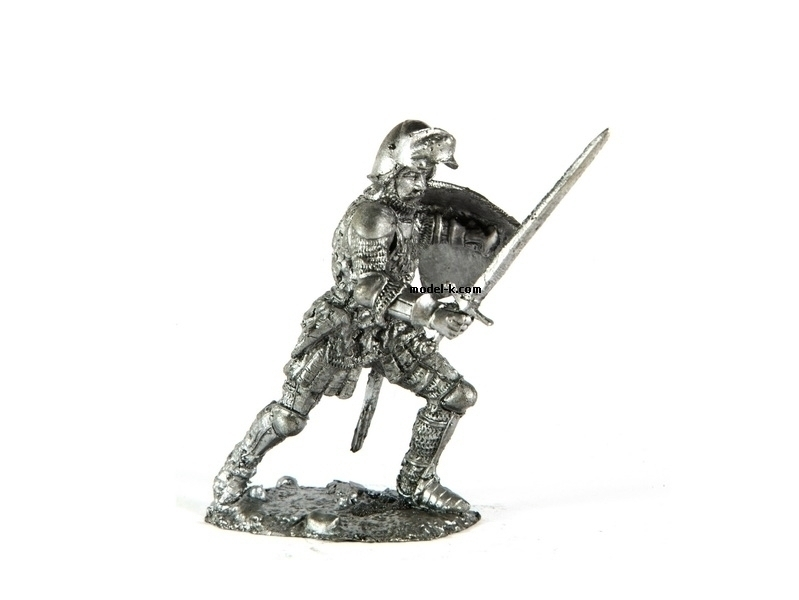 tin 54mm knight. Guard Captain of the King Louis XI