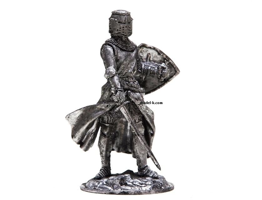 English Knight 54mm tin figure