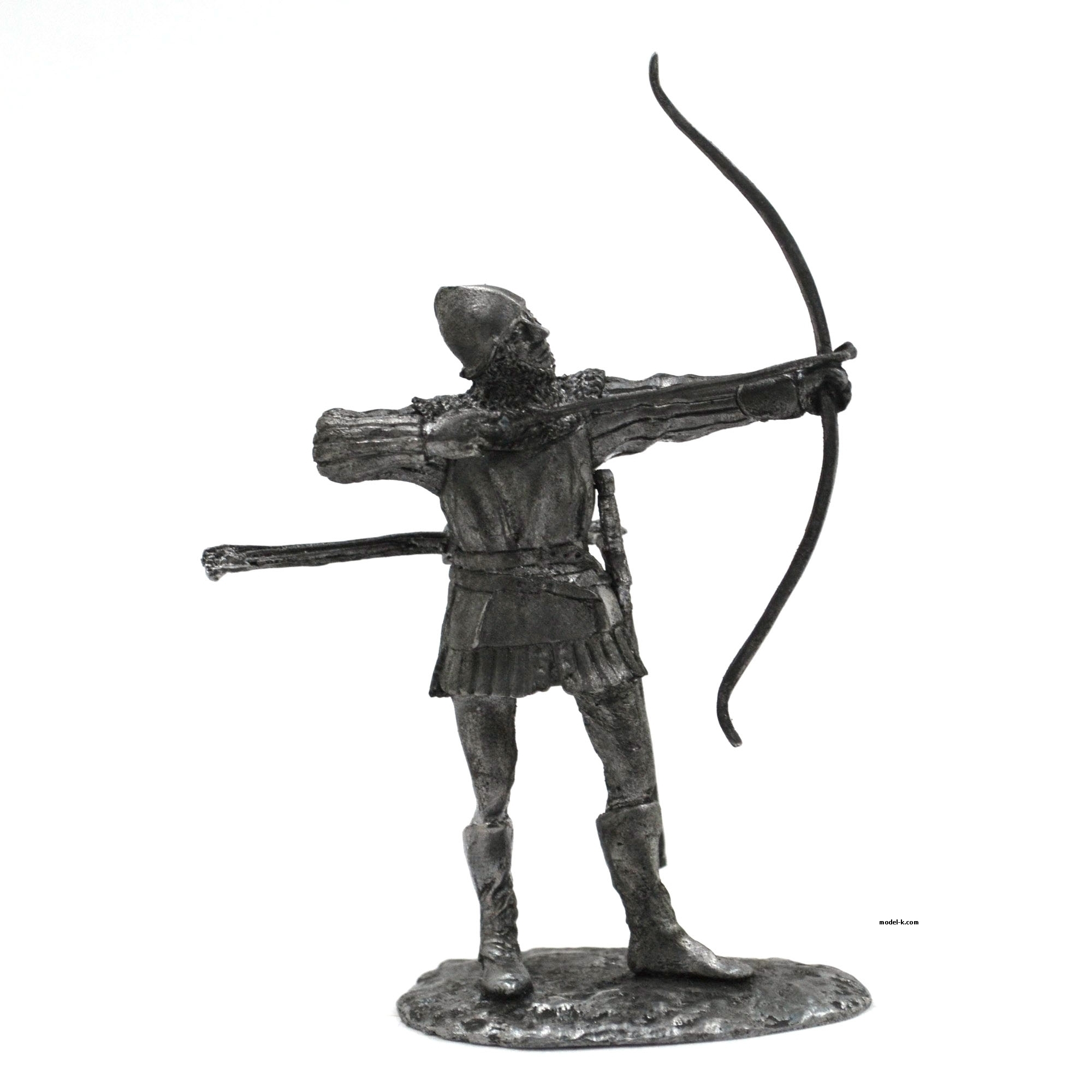 French archer 54mm tin figure