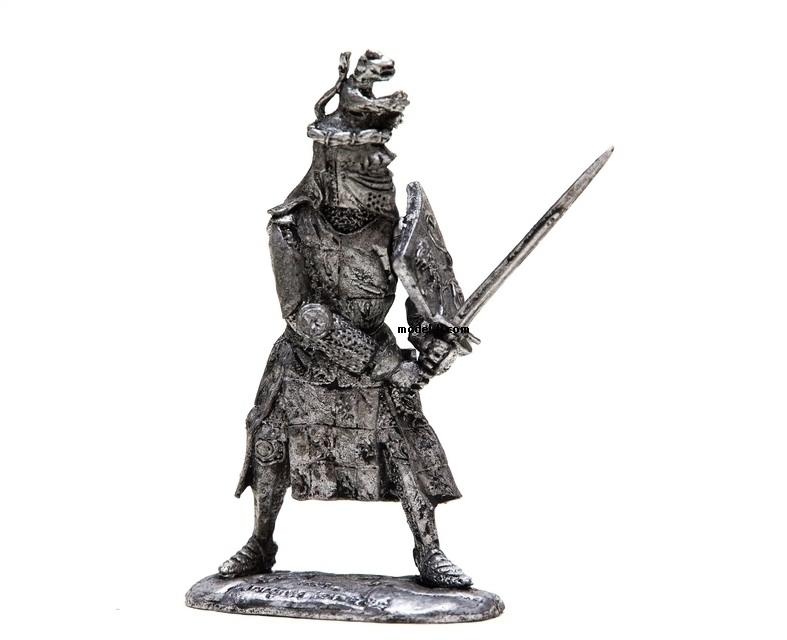 1:32 Scale Metal Miniature of Jacques Louchard. French Knight 1350yr.