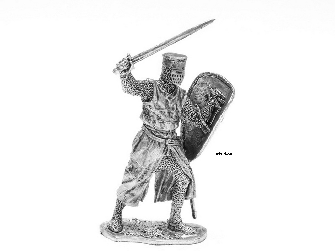 54mm Tin Castings Figurine of European Knight