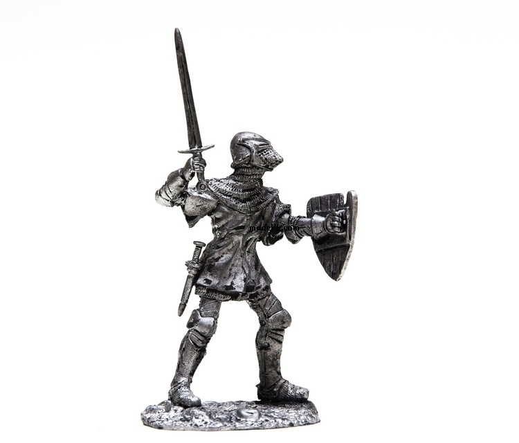 tin 54mm metal miniature France Knight