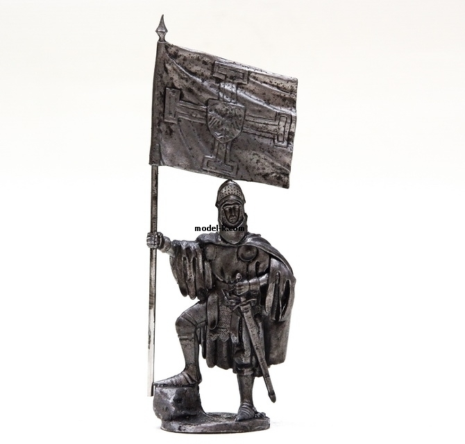 1:32 scale tin figure. Crusades. Ensign of the Teutonic Knights