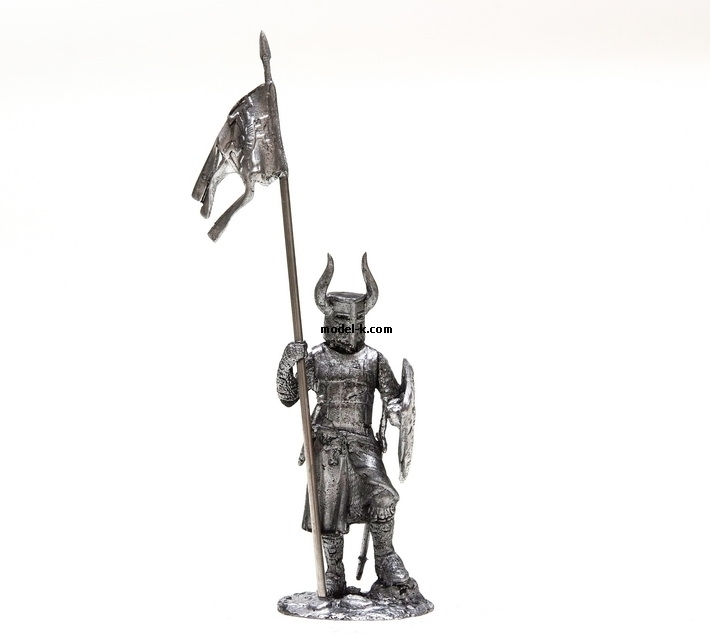 1:32 scale tin figure. Crusades Teutonic Order. Knight.