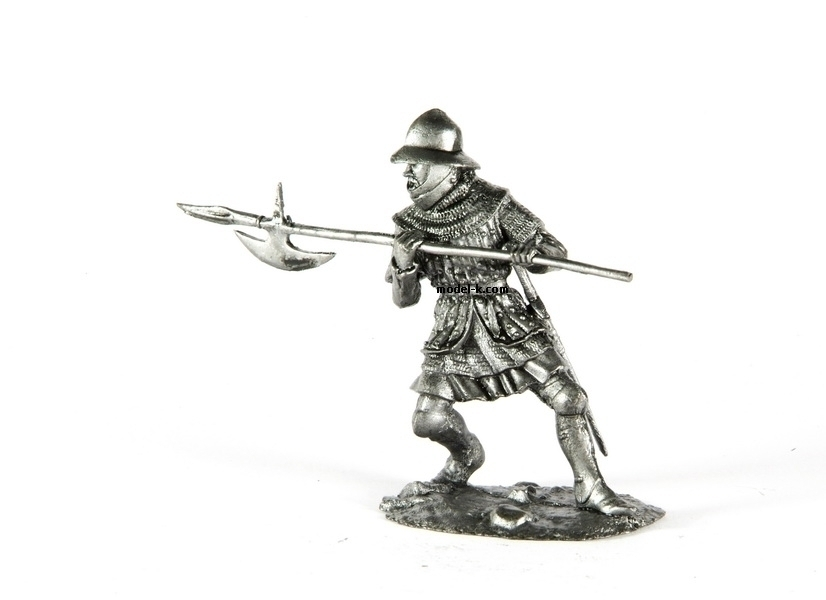 1:32 tin soldier England. Infantryman. Hundred Years War 54mm