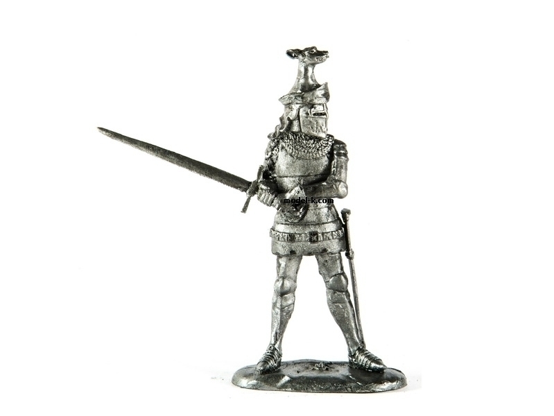 Knight Sir John de Foxley tin 54mm soldier