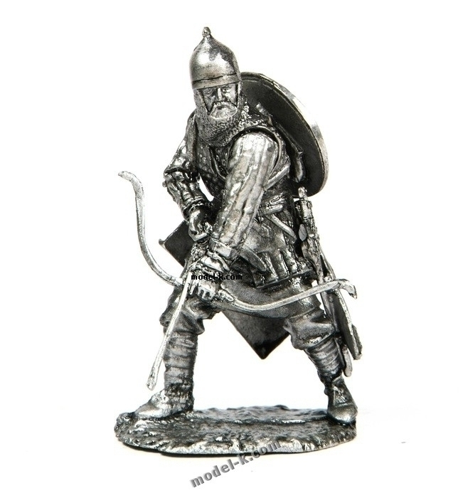 54mm tin figurine Archer. The Battle on the Ice