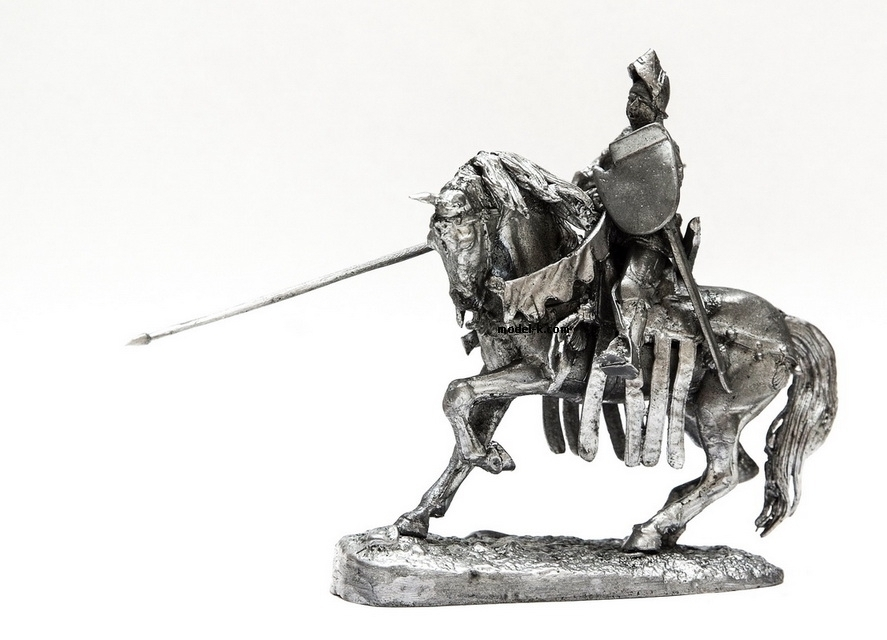 54mm, figures on horse, cavalry 54mm, European knight, scale 1:32, metal figurine, tin soldier