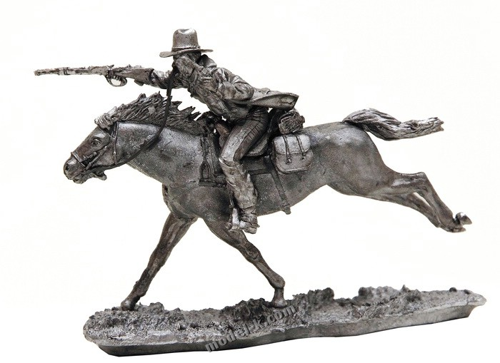 Wild West Cowboy 54mm tin miniature