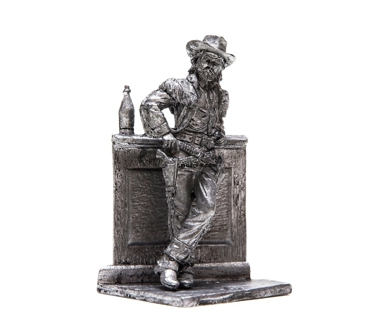54mm Figurine, 20 century, Wild West, Buffalo Bill , tin, figure, metal sculpture, white metal castings