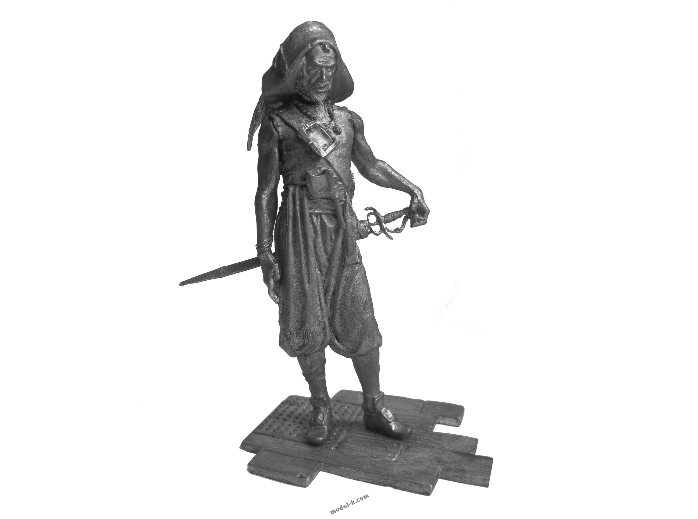 tin sculpture 75mm Pirate  Freebooter