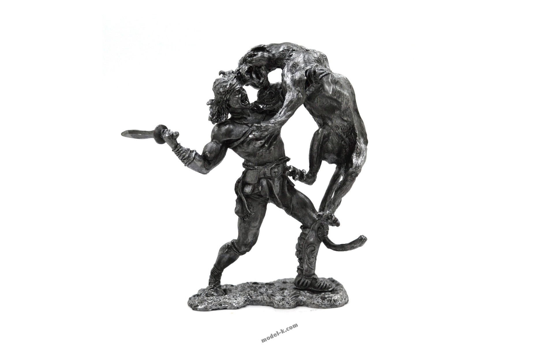 tin 75mm Gladiator. DUEL OF BEAST