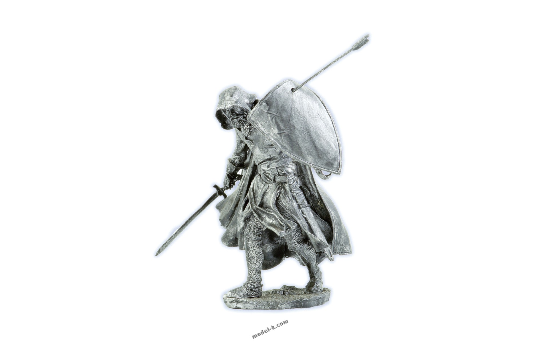 tin 75mm Medieval Knight metal sculpture