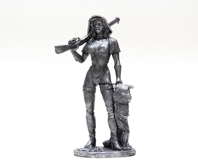 Scale Figure of Red Riding Hood 75mm metal