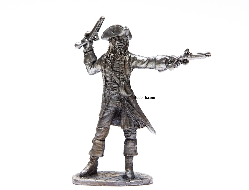 1:32 Scale Metal Miniature of Jack Sparrow