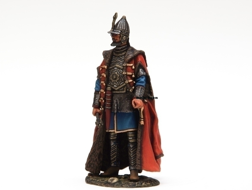 54mm tin figurine. Vasili IV of Russia was Tsar of Russia between 1606 and 1610 after the murder of False Dmitriy I. His reign fell during the Time of Troubles. He was the only member of House of Shuysky to become Tsar and the last member of the Rurikid