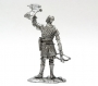 54mm, knight figure, Norman Knight, France knight, falcon, middle age, tin, warrior, soldier, knight art, historical miniature, figure, metal sculpture, white metal castings