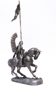 Figure on horse. Scale 1/32. Poland. Winged Hussar 54mm