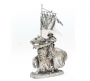 tin 54mm, 1:32, knight, metal figue, tin toy, figure on horse, hoseman