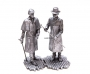 1:32 Scale Metal Miniature of Sherlock Holmes and Dr. Watson