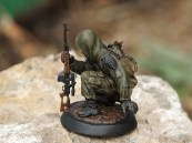 54mm Stalker Figurine, painted